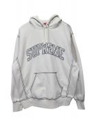 Supreme(シュプリーム)の古着「Big Stitch Hooded Sweatshirt」 ベージュ