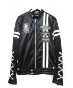 VANSON(バンソン)の古着「レーシングジャケット」|ブラック