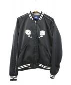JohnUNDERCOVER(ジョンアンダーカバー)の古着「ベトナムスカルジップアップジャケット」 ブラック