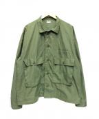 DELUXE(デラックス)の古着「ファティーグシャツジャケット」|オリーブ