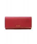 PRADA(プラダ)の古着「長財布」|ピンク