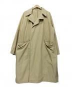 SHIPS JET BLUE(シップスジェットブルー)の古着「オーバーサイズナイロンコート」 ベージュ