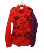 PEEL&LIFT(ピールアンドリフト)の古着「パラシュートシャツ」 レッド