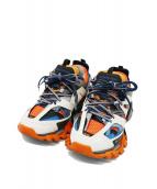 BALENCIAGA(バレンシアガ)の古着「Track Orange Blue」|オレンジ×ホワイト×ブルー