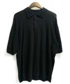 ISSEY MIYAKE MEN(イッセイミヤケメン)の古着「カットオフビッグニットポロシャツ」|ブラック