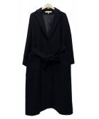 DRESSTERIOR(ドレステリア)の古着「ビーバーベルテッドコート」|ネイビー