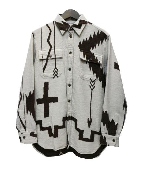 POLO RALPH LAUREN(ポロ・ラルフローレン)POLO RALPH LAUREN (ポロラルフローレン) ウールシャツ ベージュ サイズ:Mの古着・服飾アイテム