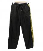 FR2(エフアールツー)の古着「Line Easy Pants」 ブラック×イエロー