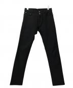 ANN DEMEULEMEESTER(アンドゥムルメステール)の古着「スキニーパンツ」|ブラック