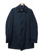 Serge Blanco(セルジュブランコ)の古着「ライナー付ステンカラーコート」|ネイビー