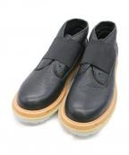 CABANE de ZUCCa(カバンドズッカ)の古着「ゴムレザーデザートブーツ」 ブラック