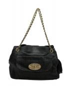 MULBERRY(マルベリ)の古着「チェーンハンドバッグ」|ブラック