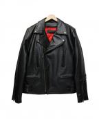 LIUGOO LEATHERS(リューグーレザーズ)の古着「ライナー付ライダースジャケット」 ブラック