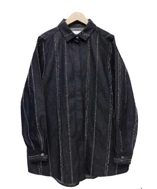 AMERI(アメリ)AMERI (アメリ) デニムシャツ ブルー サイズ:Mの古着・服飾アイテム
