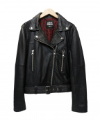 OPENING CEREMONY(オープニングセレモニー)の古着「レザーライダースジャケット」|ブラック
