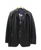 Barassi(バラシ)の古着「レザーテーラードジャケット」|ブラック