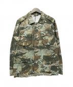 Serge Blanco(セルジュブランコ)の古着「サファリジャケット」|グリーン