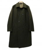 FRANK LEDER(フランクリーダー)の古着「WOOL DOUBLE BRESTED COAT」 グリーン
