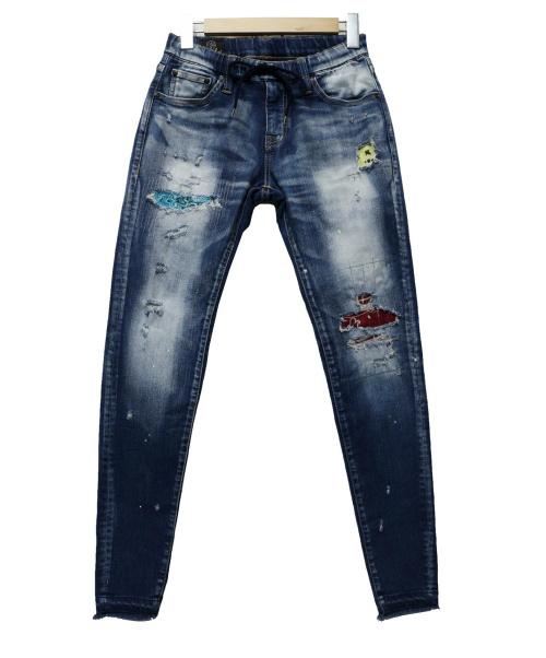 BIG JOHN(ビッグジョン)BIG JOHN (ビックジョン) ハイパーストレッチパンツ ブルー サイズ:XSの古着・服飾アイテム