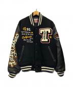 TED COMPANY(テッドカンパニー)の古着「フルデコスタジャン」|ブラック