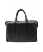 土屋鞄(ツチヤカバン)の古着「レザービジネスバッグ」|ブラック