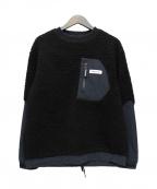 GRAMICCI()の古着「フリースプルオーバー」|ブラック