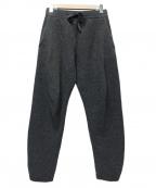 CLANE HOMME(クラネ オム)の古着「リブニットパンツ」|グレー