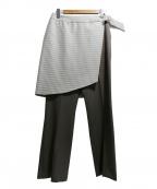 STUDIOUS(ステュディオス)の古着「別注ラップフレアパンツ」|グレー