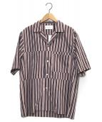 STUDIOUS(ステュディオス)の古着「オープンカラーシャツ」|パープル