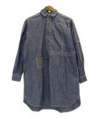 JUNYA WATANABE CdG MAN PINK(ジュンヤワタナベマンピンク)の古着「シャツワンピース」 ブルー