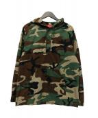 Supreme(シュプリーム)の古着「Hooded Ripstop Pullover Shirt」|グリーン