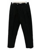 BLESS(ブレス)の古着「2タックパンツ」|ブラック