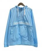 Calvin Klein Jeans(カルバンクラインジーンズ)の古着「ナイロンアノラックパーカー」 スカイブルー
