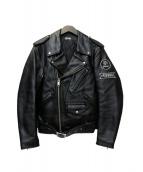 CROWS × WORST T.F.O.A(クローズ×ワースト)の古着「レザージャケット」|ブラック