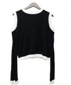 ADEAM(アディアム)の古着「デザインニット」|ブラック