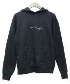YOHJI YAMAMOTO × NEW ERA(ヨウジヤマモト × ニューエラ)の古着「NEW ERA Logo Hoodie」|ブラック