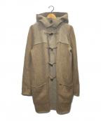 FOXEY(フォクシー)の古着「フーデッドニットコート」|ベージュ