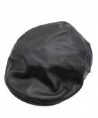 KADOYA(カドヤ)の古着「カウレザーハンチング」|ブラック
