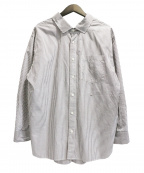 Gymphlex(ジムフレックス)の古着「オーバーサイズシャツ」 グレー×ホワイト