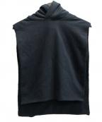 ALMOSTBLACK(オールモストブラック)の古着「HOODED SWEAT VEST」 ブラック