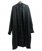 JULIUS(ユリウス)の古着「ロングリネンシャツ」 ブラック