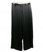 SASQUATCHfabrix.(サスクワッチファブリックス)の古着「SIWA WIDE SILHOUETTE SLACKS」|ブラック