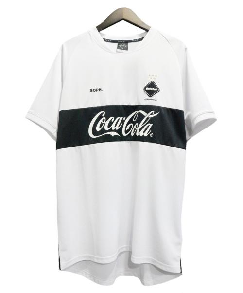 F.C.R.B.(エフシーアールビー)F.C.R.B. (エフシーアールビー) Coca Cola TEE ホワイト×ブラック サイズ:XLの古着・服飾アイテム