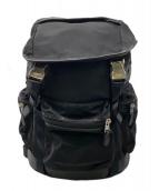 COACH(コーチ)の古着「ナイロンコンビレザーバックパック」|ブラック