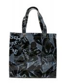 ()の古着「PVCバッグ」|ブラック×ホワイト
