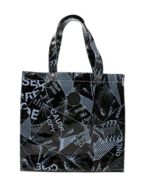 DIESEL(ディーゼル)DIESEL (ディーゼル) PVCバッグ ブラック×ホワイトの古着・服飾アイテム