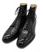 ()の古着「ストレートチップブーツ」|ブラック