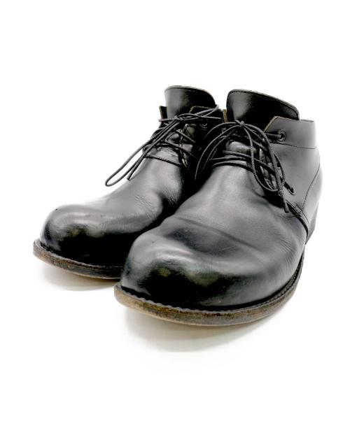 OURET(オーレット)OURET (オーレット) オイルバケッタチャッカーブーツ ブラック サイズ:42の古着・服飾アイテム