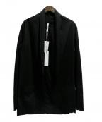 ATTACHMENT(アタッチメント)の古着「HIGH GAUGE STALL CARDIGAN」 ブラック