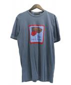 LOUIS VUITTON(ルイ ヴィトン)の古着「トラベルバッグ柄Tシャツ」 グレー